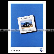 ★ VW VOLKSWAGEN GOLF 'MATCH II'  3 MK3 ★ 1997 - Brochure Dépliant PUB #BA108