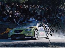 Mikko Hirvonen mano firmado Bp Ford Rally Mundial Foto De Equipo 8x6 2.