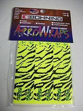 "4"" Yellow Tiger Bohning Carbon Arrow Wrap 12  Pack ArroWraps USA Made Wraps"