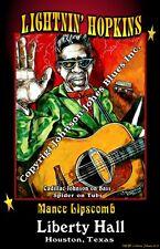 Lightnin' Hopkins at Liberty Hall Poster by Cadillac Johnson