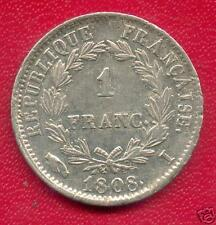 QUALITE 1 FRANC ARGENT NAPOLEON EMPEREUR 1808 I LIMOGES