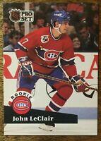 1991-92 Pro Set - JOHN LECLAIR #545 Montreal Canadiens Rookie RC