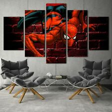 Spiderman poster 5PCS HD Canvas Print Home Decor room Picture Wall Art Painting