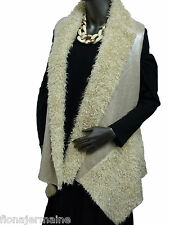 EG Gr.40-48 TREND Weste Fellweste Pelzweste Fake Fur edler Goldschimmer Italien