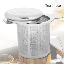 Filtre à thé métal infuser acier inox feuille de crépine couvercle épices plante