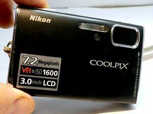 Nikon COOLPIX S50 7MP Digital Camera - Matte black - AS IS AS found parts repair
