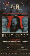 BIFFY CLYRO O2 SHEPHERDS BUSH EMPIRE NEWSPAPER ADVERT FEB 20TH 2017
