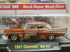 M2 MACHINES - AUTO-DRAGS - 1957 CHEVROLET BEL AIR H/S DRAG CAR - 1/64