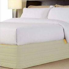 CREAM Off-White Quilted Valance 250 TC Thread Count QUEEN Cotton Blend NEW