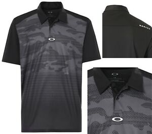 Oakley Golf Deep Rough Camo Graphic Polo Shirt - RRP£60 - S M L - Blackout