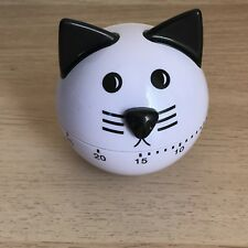 Kitty Kitchen Timer Black and White Cat 60 Minute Cooking Timer NEW in Box US