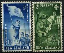New Zealand 1953 SG#719-720 Health Stamps Girl Guide Boy Scouts Used Set #D69957