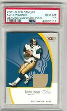 Kurt Warner 2001 Fleer Genuine Coverage Plus Jersey Patch PSA 10 GEM MINT *POP1*