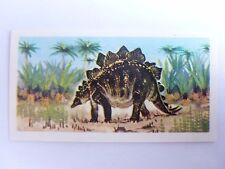 Brooke Bond Prehistoric Animals tea card 19. Stegosaurus. Dinosaurs.