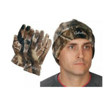 Men's Camo Polar-Weight Fleece Hunting Gloves Hat Combo by Cabelas