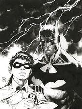 BATMAN & ROBIN Original Art by JIM LEE Comic Art