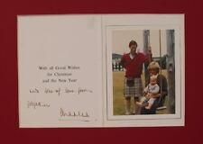 1983 Hand Signed Prince Charles Christmas Card
