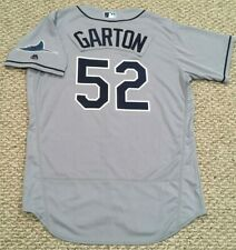 GARTON size 46 #52 2017 Tampa Bay Rays game jersey issued road gray Rays patch