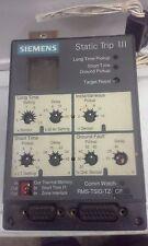 Siemens Static Trip III RMS-TSIG-TZ-CP