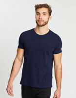 New Men's Size Banana Republic Navy Blue Soft Wash Crew Neck T-Shirt NWOT - XL