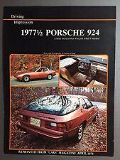 1977-1/2 Porsche 924 Showroom Sales Folder Brochure / Prospekt RARE Awesome L@@K
