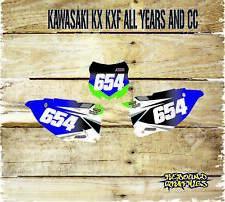 KAWASAKI KX KXF 65 85 125 250 450 Pegatinas de gráficos placas de número de fondos-Pr