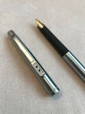 VINTAGE PAPER MATE STEEL FLIGHTER CHROME TRIM MEDIUM NIB FOUNTAIN PEN-W GERMANY