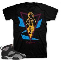 "Shirt to match Air Jordan Bordeaux 7 Sneakers ""Free Throw"" Black tee"