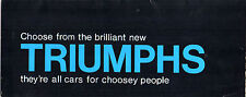 Triumph 1965-66 UK Market Foldout Brochure Herald Vitesse Spitfire 2000 TR4A
