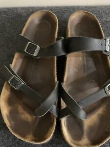 Birkenstock Mayari Sandal Womens 40 Pre Owned Black Leather