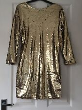 Gold Sequin Dress Size L