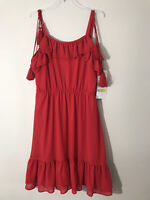 RARE EDITIONS Red Sleeveless Party Dress Girls Size 14 Polyester