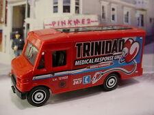 2015 EMT Design EXPRESS DELIVERY truck☆Red; TRINIDAD Medical ☆LOOSE☆Matchbox