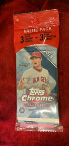 2018 Topps Chrome Baseball-Value Pack Factory Sealed (Acuna, Devers, Ohtani)