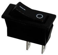 Interruptor conmutador de botón SPST ON-OFF 10A/250V, 2 posiciones, Negro