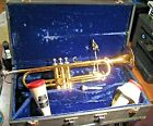 KING CLEVELAND MODEL 600 TRUMPET 1975 & HARD CASE & ACCESSORIES MADE IN USA