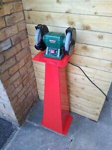 Bench grinder stand, plinth, pedestal