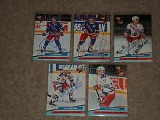LOT OF (5) NEW YORK RANGERS 1992-93 FLEER ULTRA SIGNED AUTOGRAPHED HOCKEY CARDS