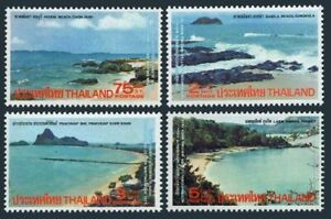 Thailand 757-760,hinged.Mi 776-779. View 1975. Pataya Beach,Samila Beach,Bays.