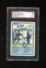 1984/85 84/85 OPC #367 Bernie Federko Joe Mullen Signed Auto SGC Blues DUAL