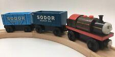 Thomas Wooden Railway Bertram Scrap Cargo Cars 2001 ADULT OWNED Train Set Lot