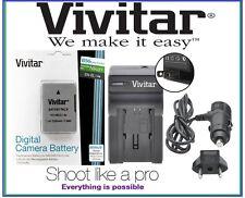 Hi Capacity Vivitar 2300 mAh EN-EL14a Li-Ion Battery & Quick Charger For Nikon