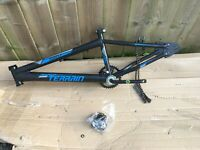 "Terrain 1020XT Bike Bicycle Frame BMX Style With Crank and Headset 11"" Frame"