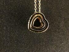 Anhänger 24 Karat Gold zwei Herzen Strass Liebe Love Halskette Schmuck Deluxe