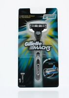 Gillette Mach 3 Mach3 Classic Razor Handle with Cartridge Duracomfort 3 Blades