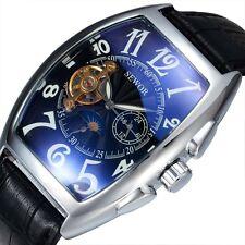 SEWOR Men Automatic Mechanical Watches Mens Tourbillon Tonneau Watch Moon Phase