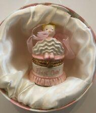 Rare Adorable Mud Pie Princess Baby Girl First Haircut Ceramic Keepsake Box