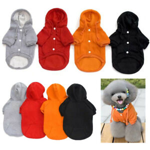 Small Dog Winter Sweater Warm Coat Pet Hoodie Jacket Jumpsuit Soft Clothes S-XL