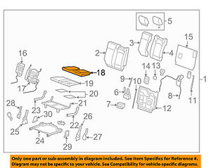 Chevrolet GM OEM 09-12 Traverse Third Row Seat-Cushion Cover Left 20864886