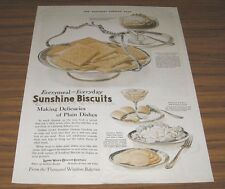 1921 Vintage Ad Sunshine Biscuit Graham Crackers,Fig Bars,Loose-Wiles Co.